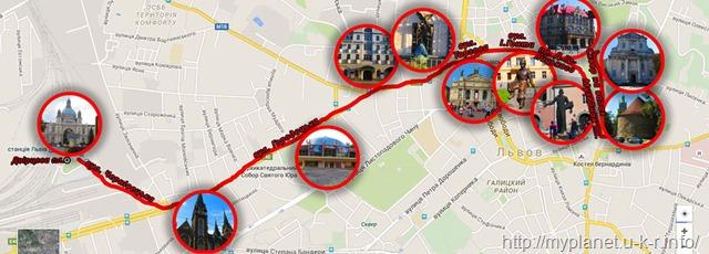 Моя карта визначних місць Львова