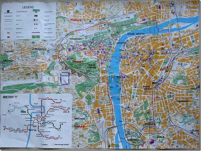 Туристична карта Праги