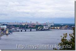 Киев. Смотровая площадка - вид на Днепр