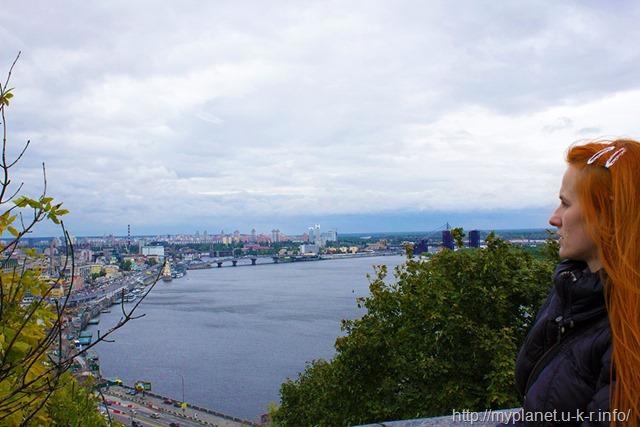 Оглядовий майданчик Киева - частина мене в кадрі