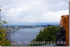 Киев. Смотровая площадка - немножко меня в кадре