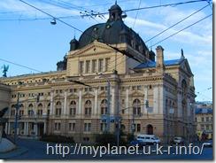 Львовский оперный театр с северной стороны
