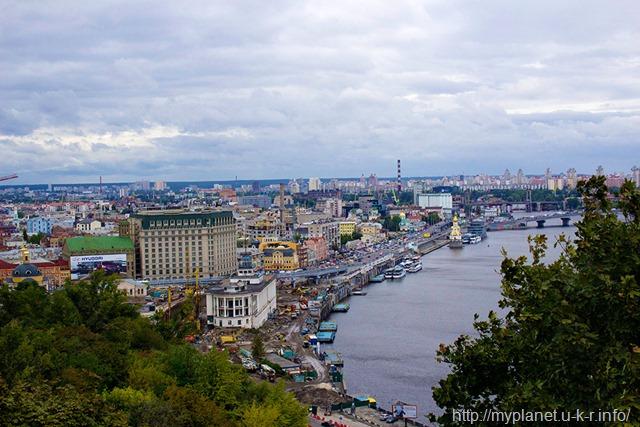 Оглядовий майданчик Киева - набережна
