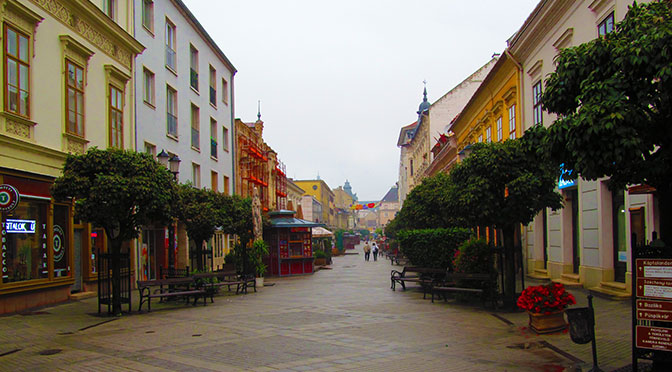 The Hungarian city of Gyor