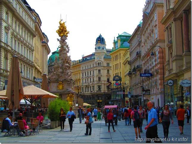 Віденська чумана колона на вул. Грабен