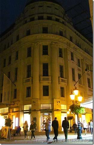 Вулиця Ваци в Будапешті ввечері