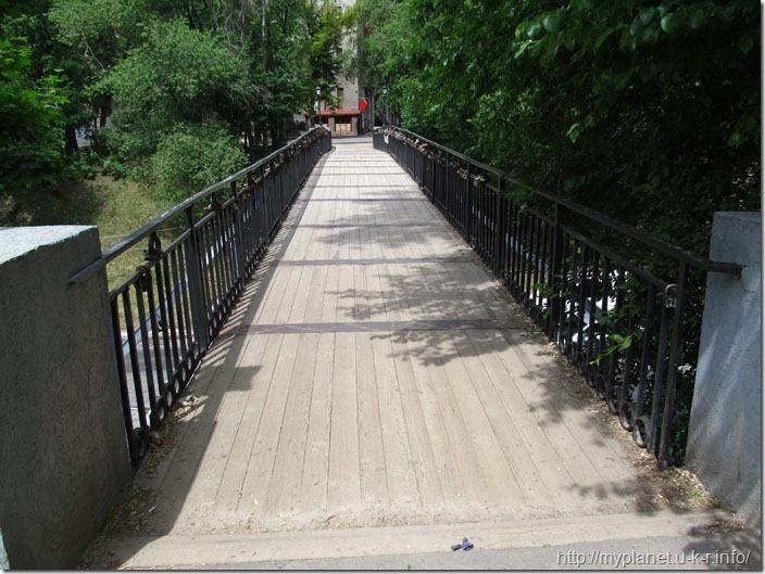 Пешеходный мостик в Харькове