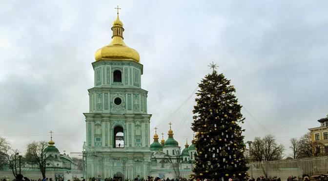 Минипрогулка днем по Киеву 31.12.2017
