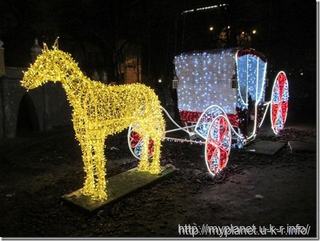 Сказочная карета с лошадью