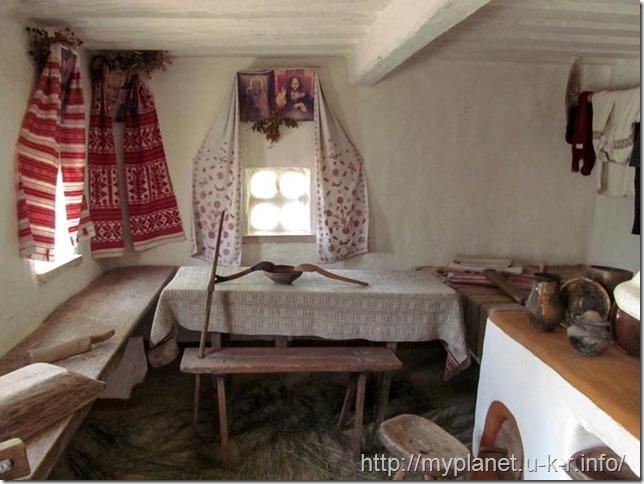 Traditional interior of Ukrainian historical houses