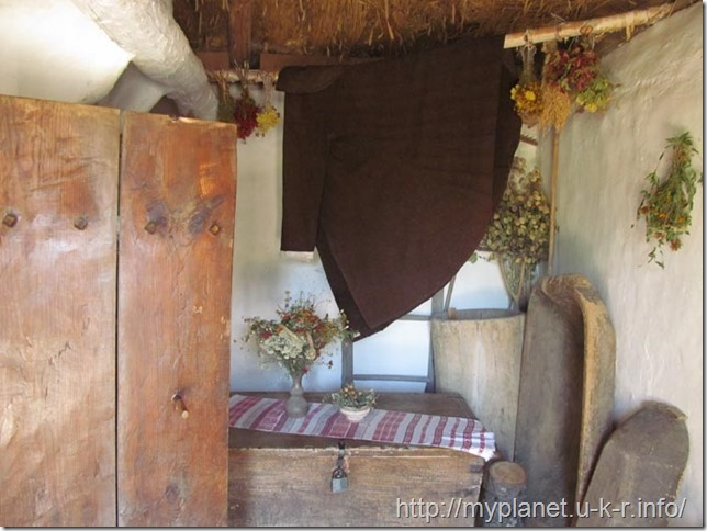 Other corner of the Ukrainian traditional folk style room