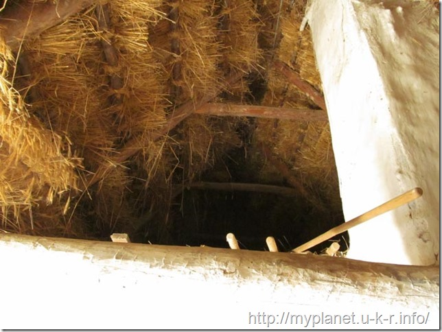 Attic of the Ukrainian ancient hut
