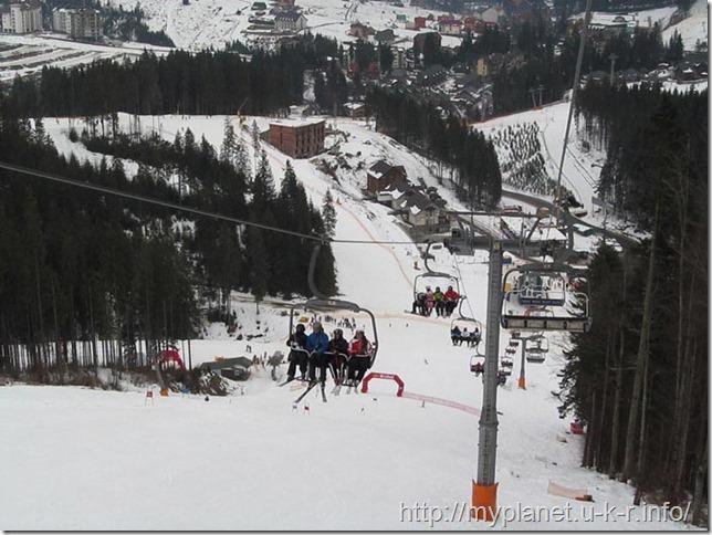 Офигительные зимние пейзажи горнолыжного курорта