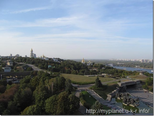 Beautiful scenery of the Kiev Pechersk Lavra