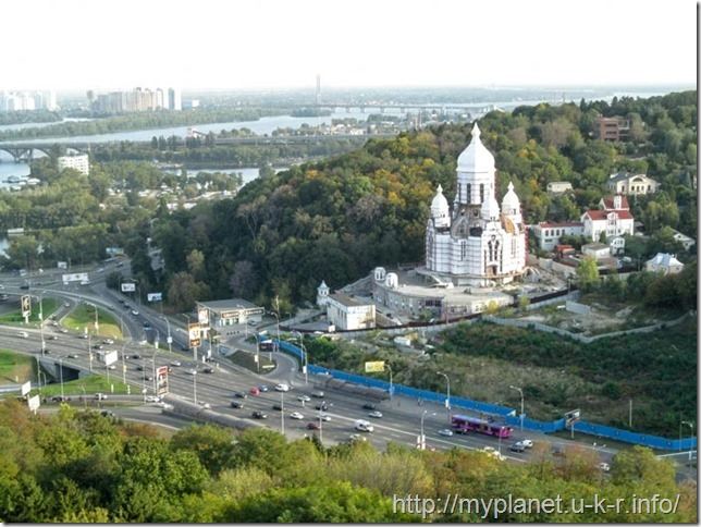 Unfinished Temple of Peace, Love and Unity in the elite district of Kiev
