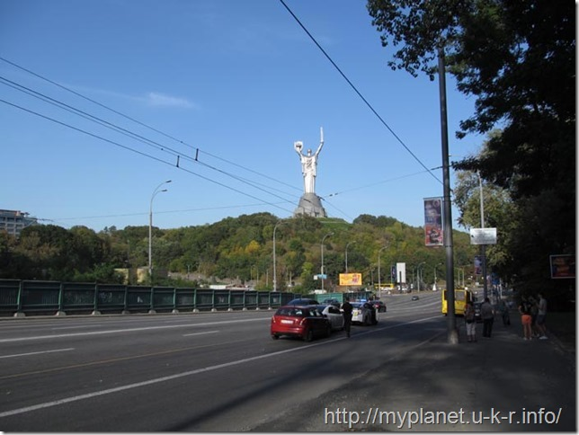 "Sculpture ""The Motherland Monument"" in Kiev - view from the back"