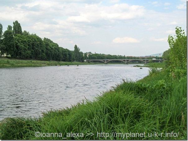 Река Уж в Ужгороде