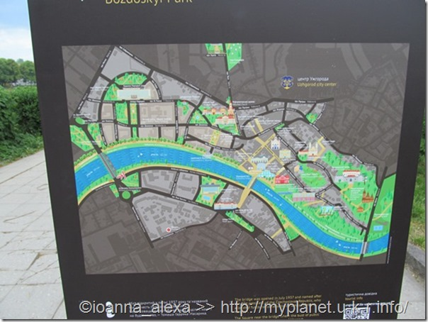 Карта исторической части Ужгорода