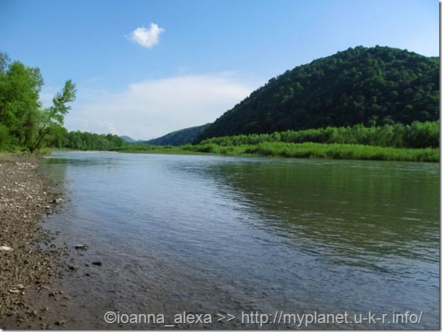 Божественная красота реки Тиса среди зеленых Карпат