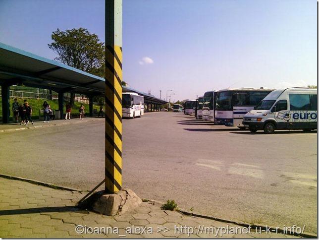 Автобусный парк на автовокзале Кошице