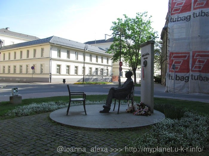 Памятник Шандору Мараи в Кошице