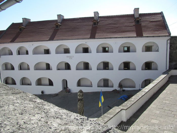 Вид на Средний двор из смотровой площадки «Восточный бастион»