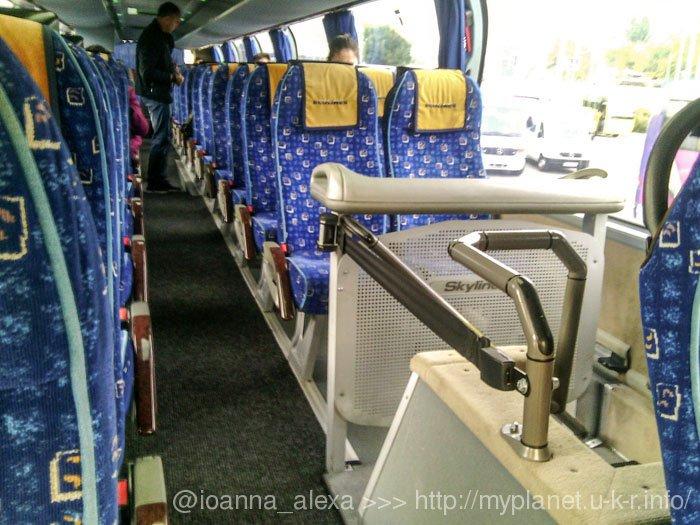 Салон автобуса Київ-Варшава, перевізник - Ecolines
