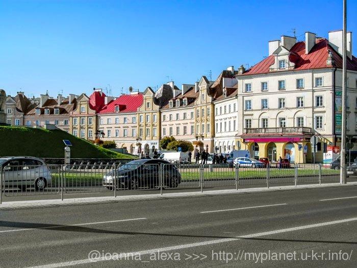 Вид на Старе місто Любліна з автовокзалу