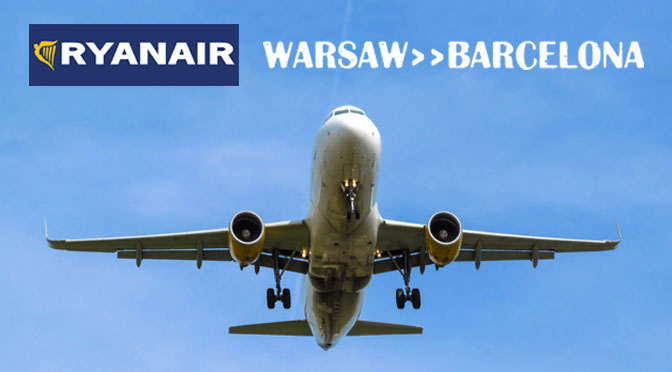 Из Варшава-Модлин в Барселону на самолете Ryanair