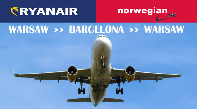 Переліт з Барселони до Варшави на літаку Norwegian