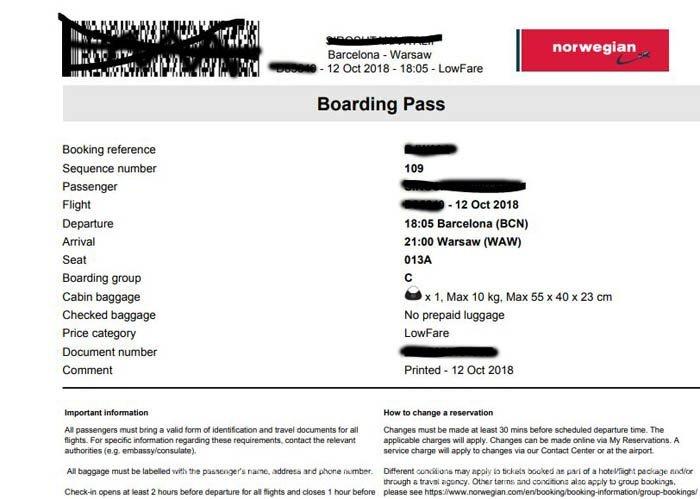 Новый билет со штрих-кодом и почти полной информацией о рейсе