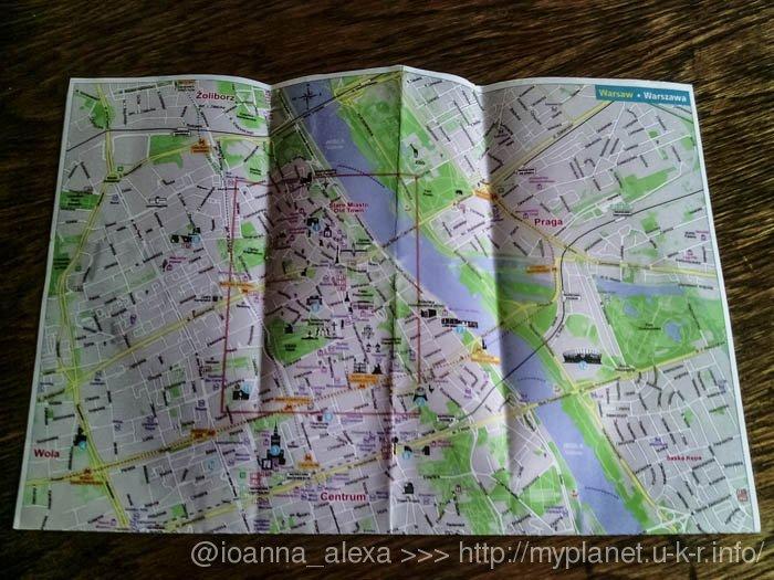 Моя сувенирная карта Варшавы