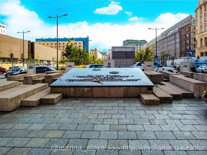 Мемориал Варшавского восстания (Pomnik Powstańców Warszawy) на площади Повстанцев Варшавы (Plac Powstańców Warszawy)