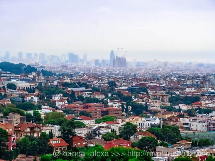 Вид на Барселону со смотровой площадки